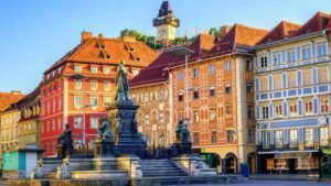 Blick auf Grazer Stadt