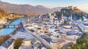 Blick auf Salzburger Stadt