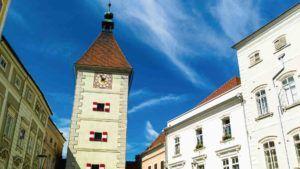 Blick auf Welser Kirche