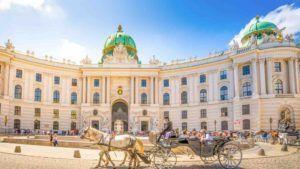 Blick auf Wiener Hofburg
